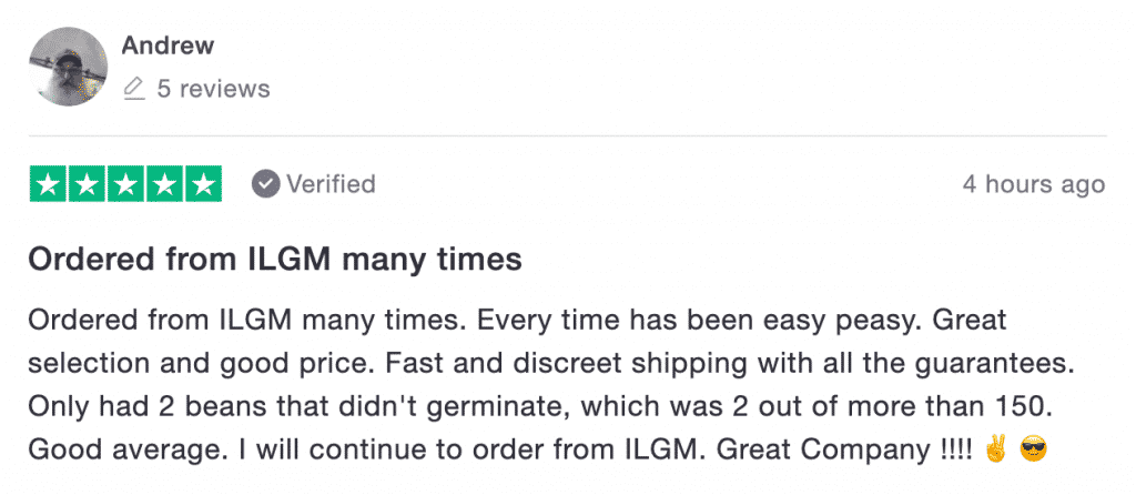 a ILGM review by a customer named andrew