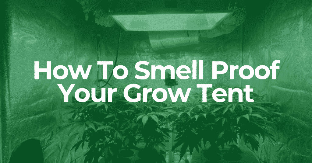 how to smell proof your grow tent
